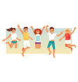 group of people on vacation vector image