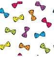 Seamless background with colorful bows vector image