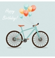 Retro Bicycle Background vector image