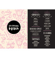 Menu ice cream restaurant template placemat vector image