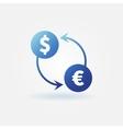 Exchange blue icon vector image
