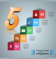 five stair infographics up the ladder to success vector image