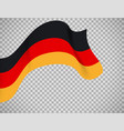 germany flag on transparent background vector image