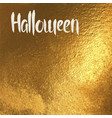 halloween card with white lettering vector image