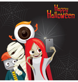Halloween Ghost Selfie vector image