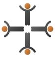 Hands Up Men Gradient Icon vector image