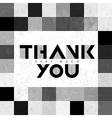 thank you monochrome tiles vector image