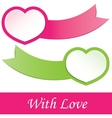 valentines heart vector illustration vector image