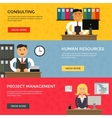 Web banners for business work start up and vector image