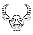 Bull Head mascot vector image vector image