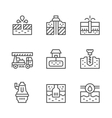 Set line icons of water bore vector image