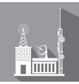antenna transmission building satellite signal vector image