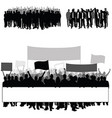 people silhouette in black color with transparent vector image vector image