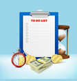 to do list composition vector image vector image