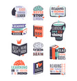 reading motivation badge vector image