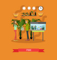 buying tropical fish in flat vector image