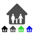 family home flat icon vector image