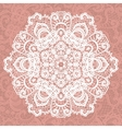 Elegant lacy doily snowflake vector image