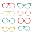 Colorful set of fashionable glasses vector image vector image