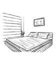 Bedroom modern interior vector image