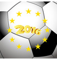 Soccer Football background with stars vector image