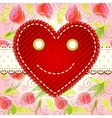 cute smiling heart vector image