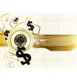 digital currency worldwide financing golden coin vector image