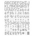 digital terminal table led font vector image
