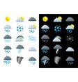 icons weather vector image