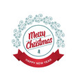 merry christmas and happy new year - greeting vector image