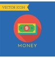 Money Icons Set Shop money or commerce vector image