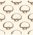 pattern with champignon mushrooms vector image