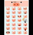 Piggy emoji icons vector image