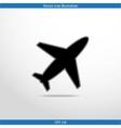 plane web icon vector image