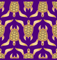 seamless pattern with turtles stylized sea turtle vector image