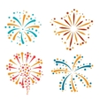 Set of abstract colorful fireworks and salute vector image
