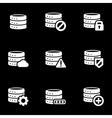 white database icon set vector image