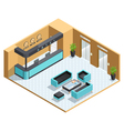 Hall Interior Isometric vector image vector image