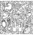 Magic Doodle Seamless Pattern vector image