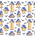 with nesting box vector image