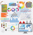 big set of flat devices with infographic elements vector image vector image