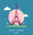 Famous landmark eiffel tower paris france vector image