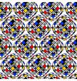 Design seamless colorful mosaic geometric pattern vector image