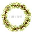 Tree laurel - round frame vector image vector image