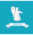 Origami Paper Angel - Christmas Background vector image vector image