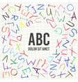 Hand drawn Children pencil ABC vector image