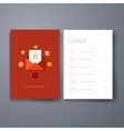 Modern message and email flat icon cards design vector image