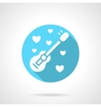 Round blue serenades flat icon vector image