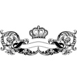 One Color Royal Crown Vintage Curves Banner vector image vector image