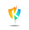 Exclusive Insurance K Security Shield Logo Icon vector image